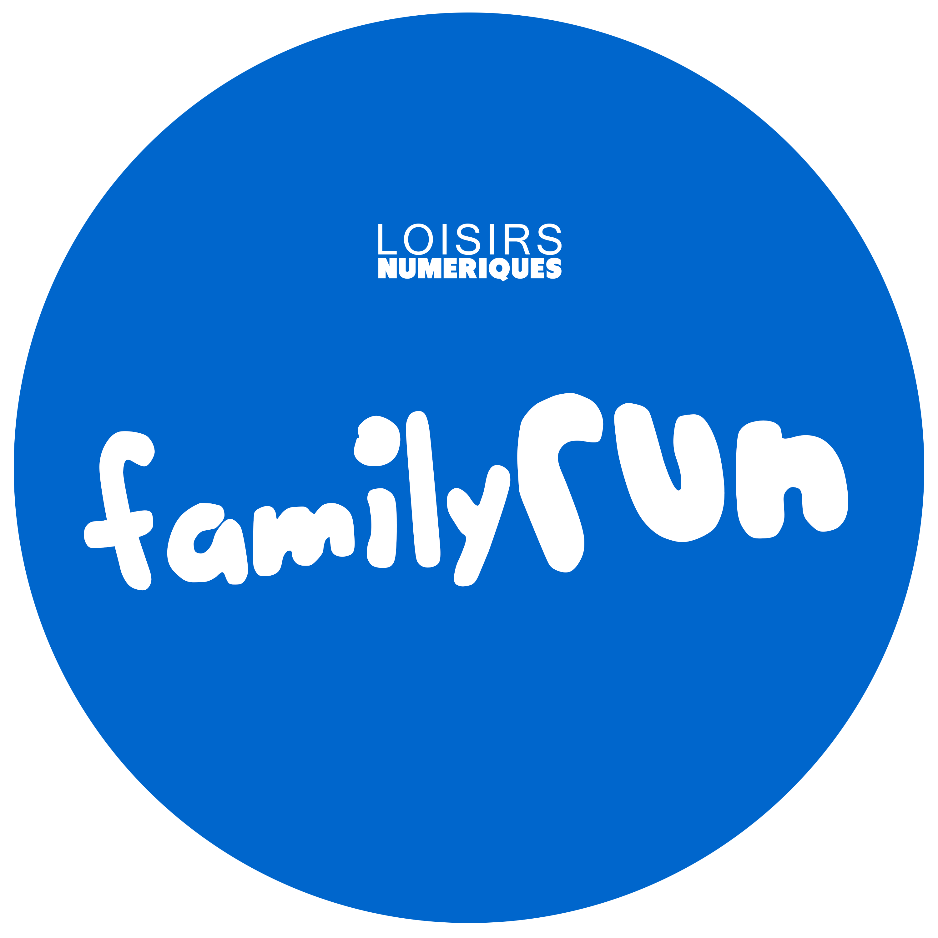 FAMILY RUN logo bleu