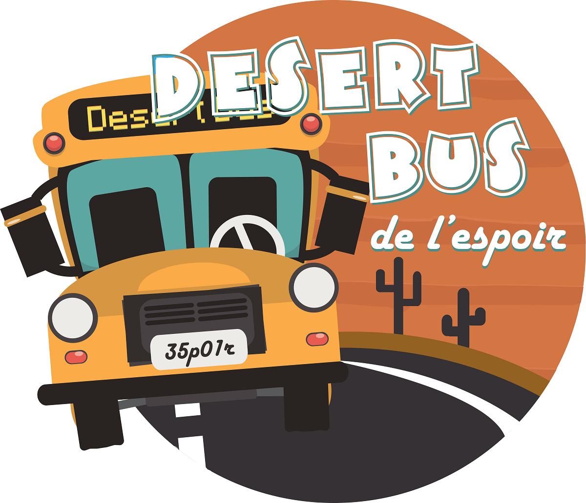 Logo Desert Bus de l'espoir