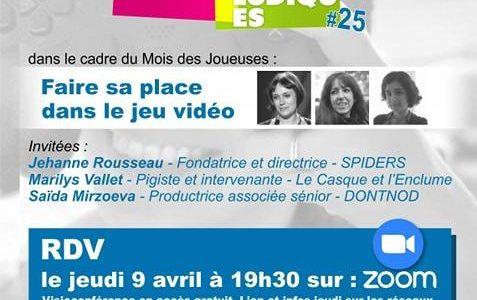 Mois des Joueuses : débat en ligne «Faire sa place dans les jeux vidéo» le 9 avril 2020 à 19h30